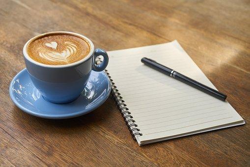 Koffie en aantekeningen